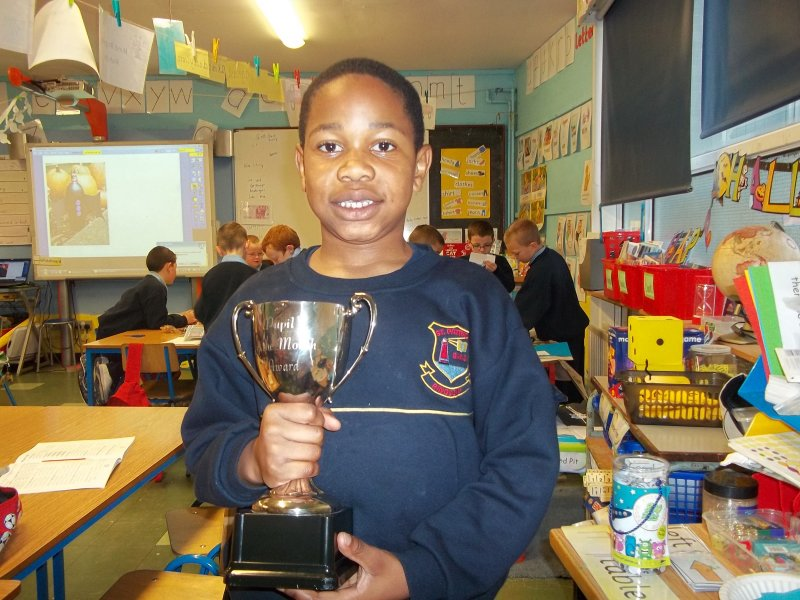 joshua-wins-the-homework-club-trophy